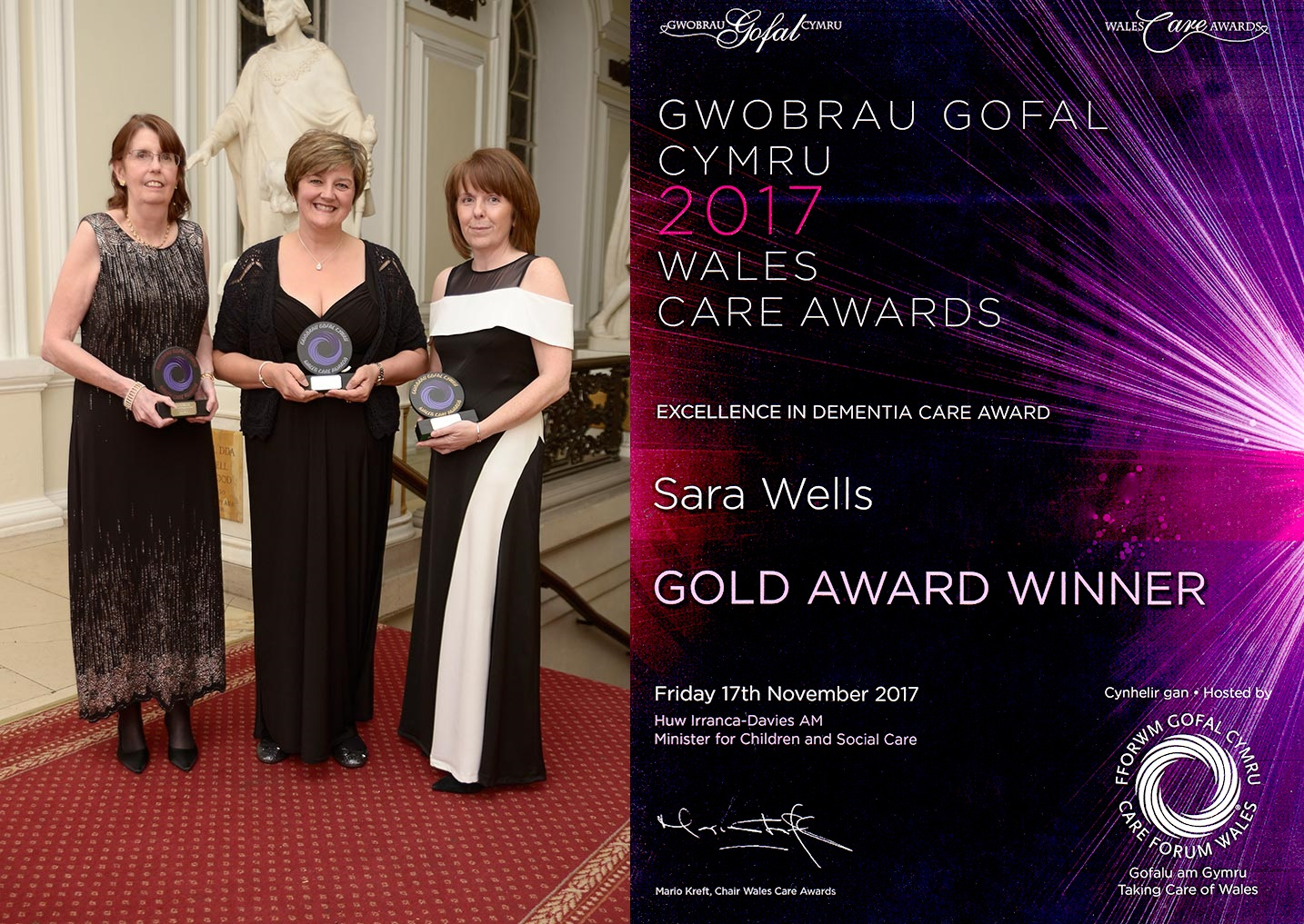 Award winning care support workers in Dementia Care