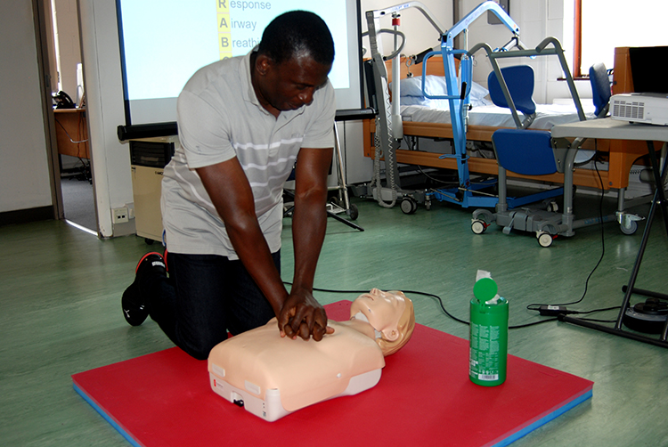 First Aid being taught at our First Aid Training facility in Cardiff
